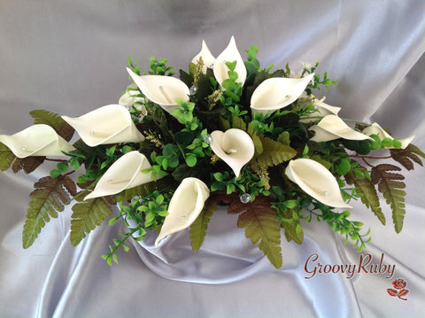Ivory Calla Lily Table Centrepiece
