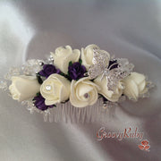 Cadbury Purple & Ivory Butterfly Hair Comb