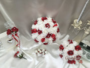 Dark Red & White Butterfly Crystal
