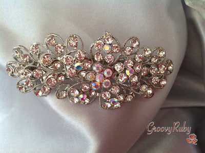 Large Bridal, Ornate, Diamante Hair Clip