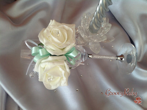 Mint Green Ribbon Loops