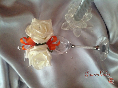 Orange Ribbon Loops