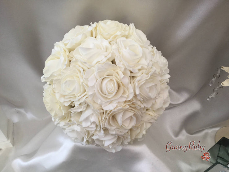 Large Cottage Rose Adult Bridesmaid Bouquet