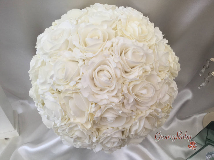 Large Cottage Rose Bride Round Bouquet