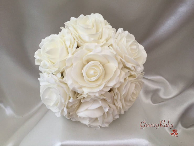 Large Cottage Rose Flower Girl Bouquet