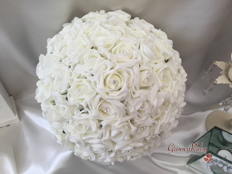 Ivory Large Round Bride Bouquet