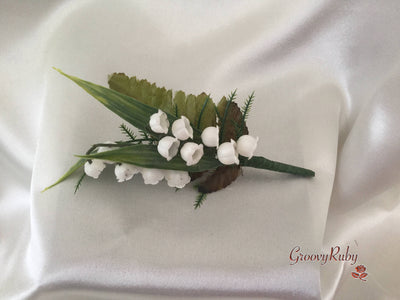 Single Lily of the Valley Buttonhole