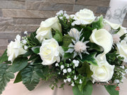 Roses With Thistle, Calla Lily & Gypsophila