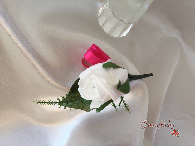 Hot Pink & Baby Pink Rose & Large White Calla Lily