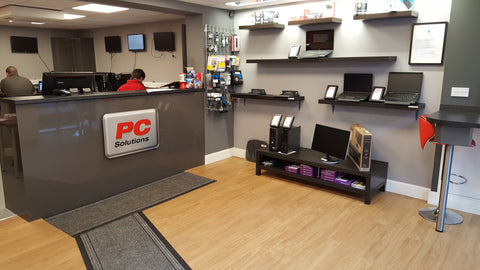 Easy access from street to PC Solutions computer and laptop repairs facility