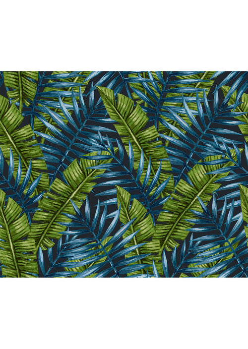Green & Blue Palm Print Leggings