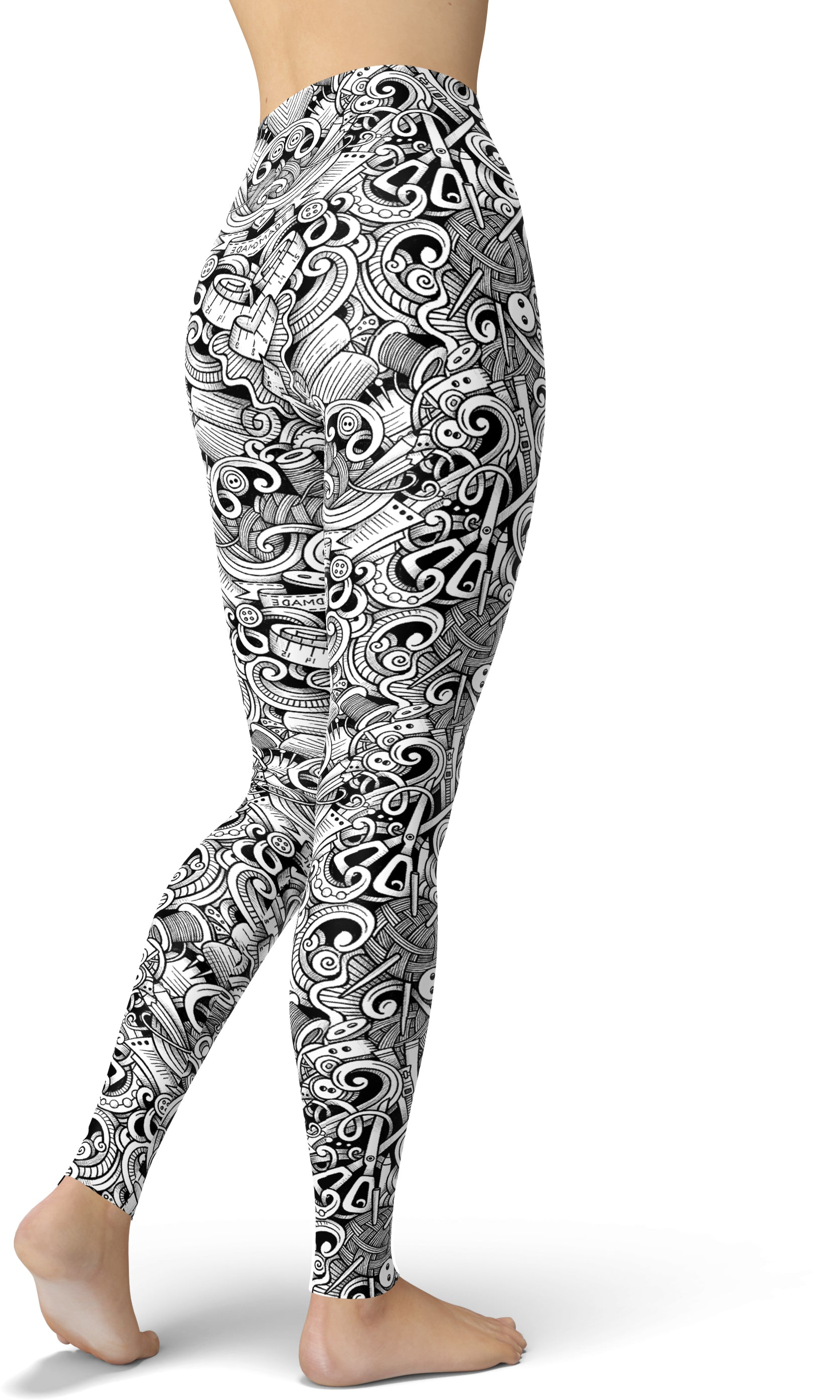 Seamstress Print Leggings