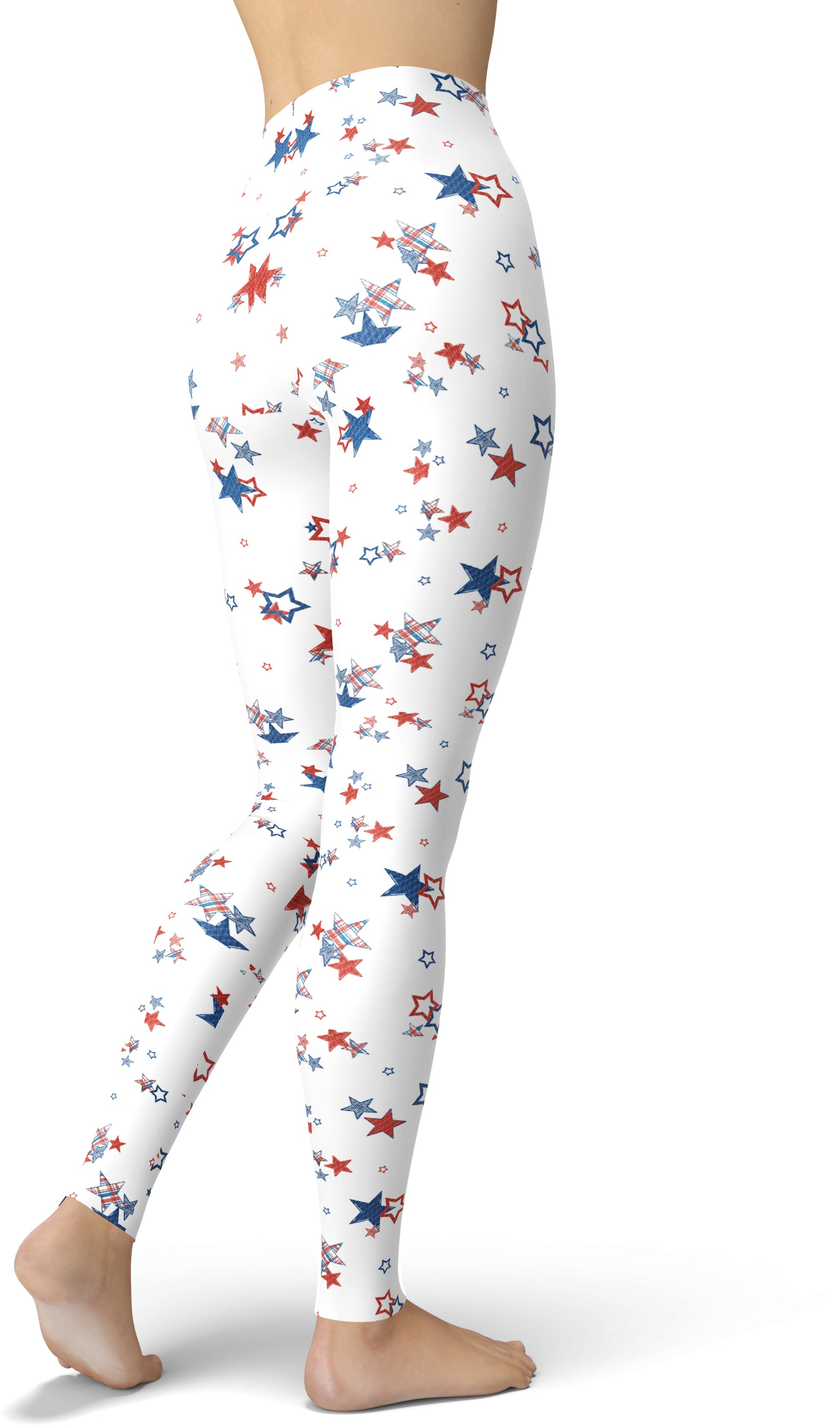 Patriotic Picnic Under The Star Leggings