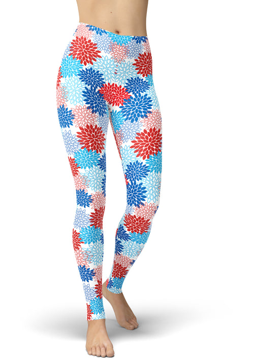 American Hydrangeas Leggings
