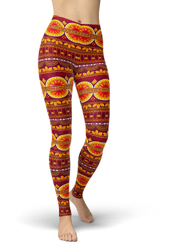 Autumnal Rose Leggings