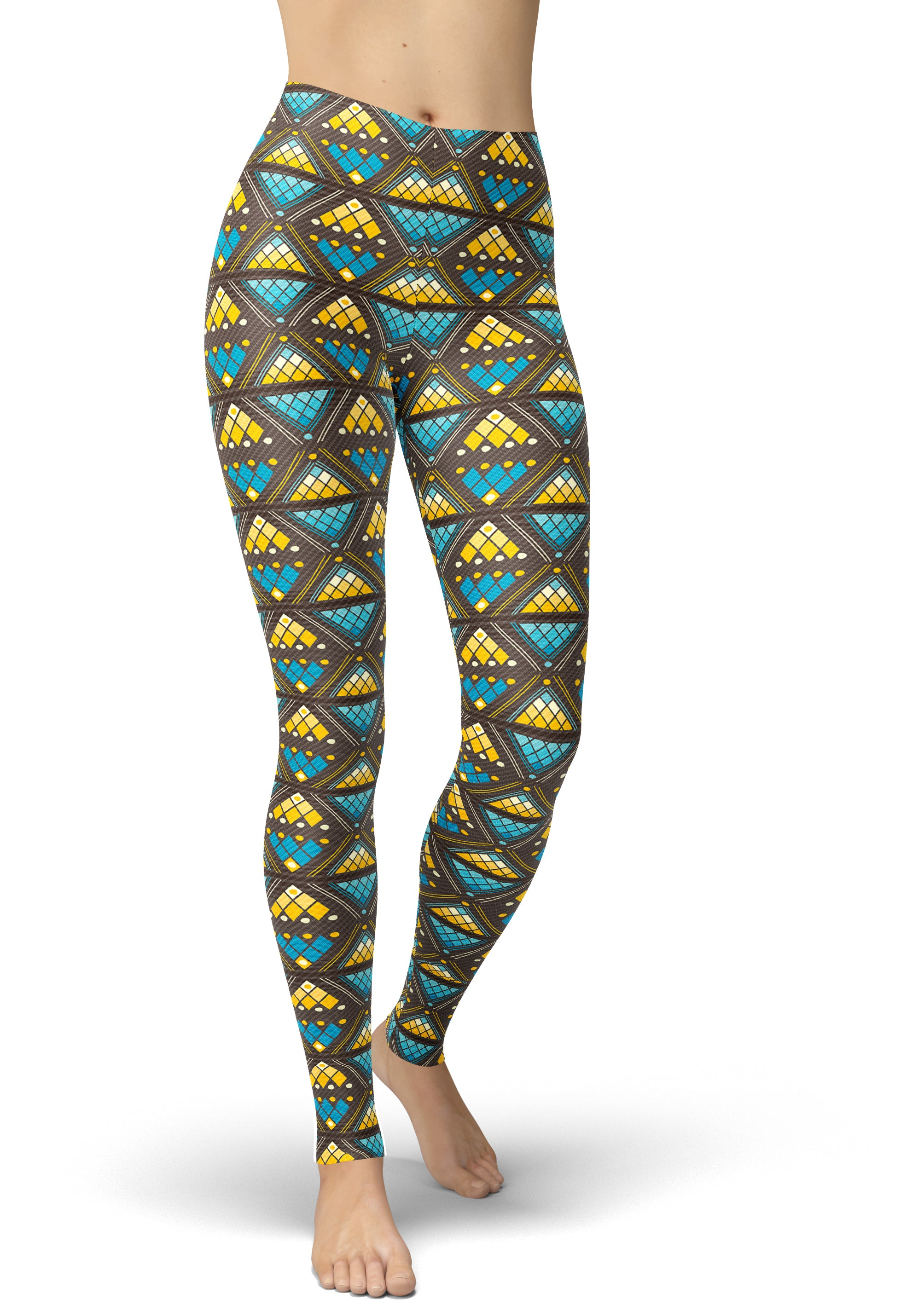 Stained Glass Tribal Leggings
