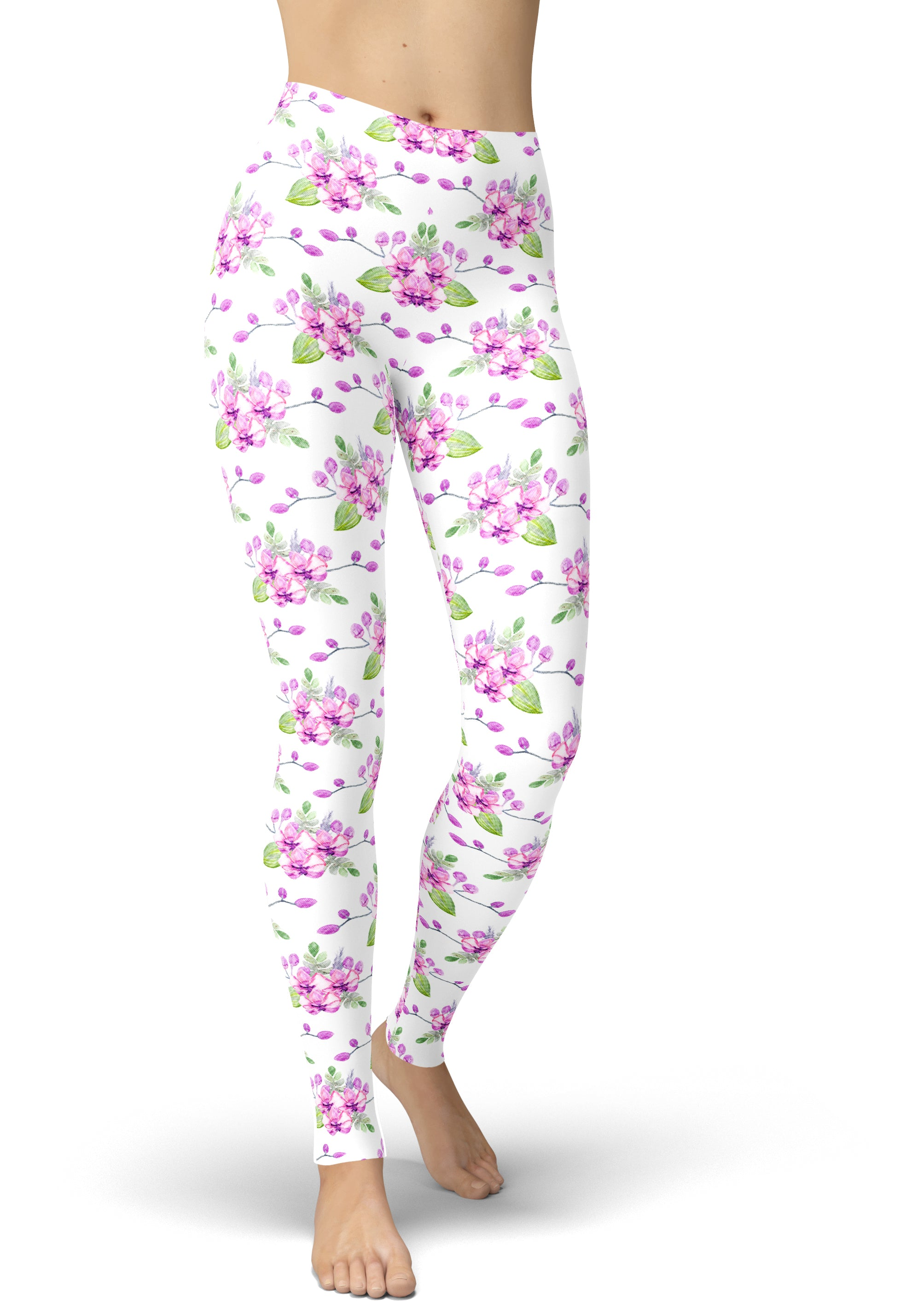 Orchids In The Summer Leggings