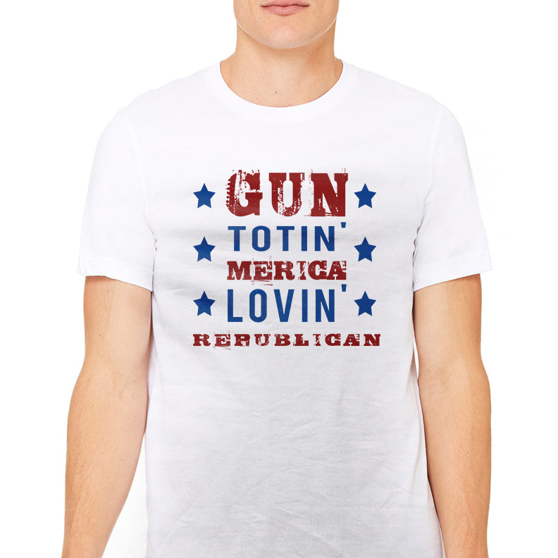 Men's Gun Totin' Merica Lovin' Republican T-Shirt