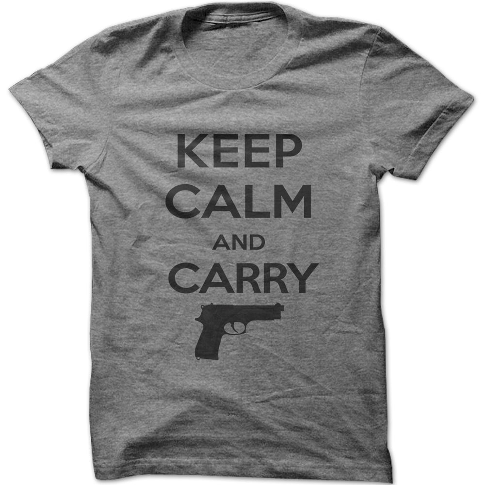 Men's Keep Calm & Carry a Gun Graphic T-Shirt