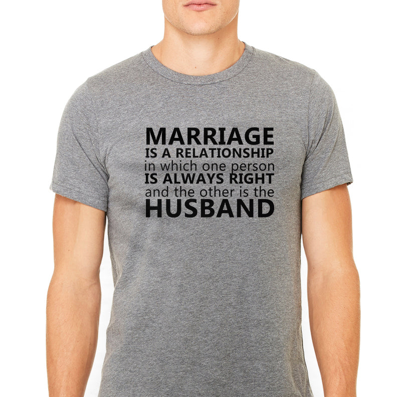 Men's T Shirt Marriage is Graphic T-Shirt