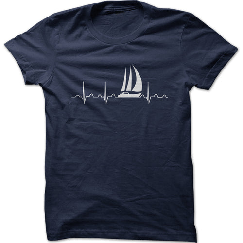 Men's Heartbeat Sailing Graphic T-Shirt