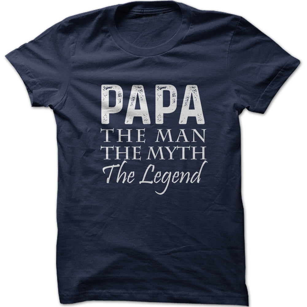 Men's Papa The Man The Myth The Legend Graphic T-Shirt