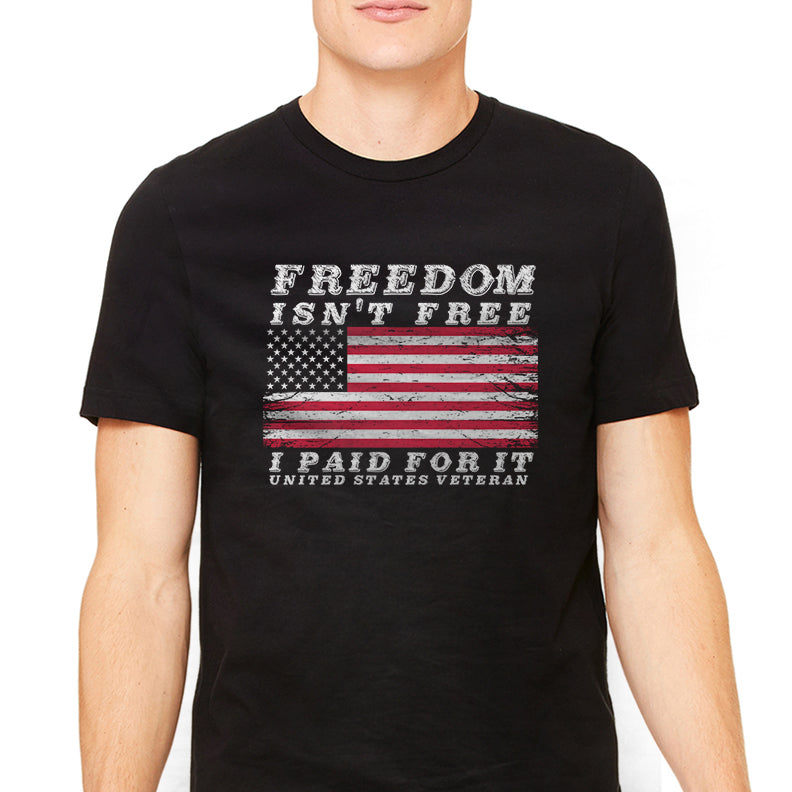 Men's Freedom Isn't Free Military Graphic T-Shirt