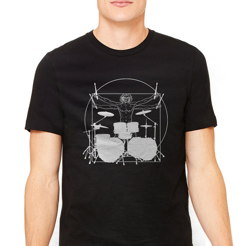 Men's Vitruvian Drummer Graphic T-Shirt