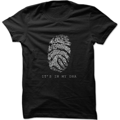 Men's It's In My DNA Musical Notes Graphic T-Shirt