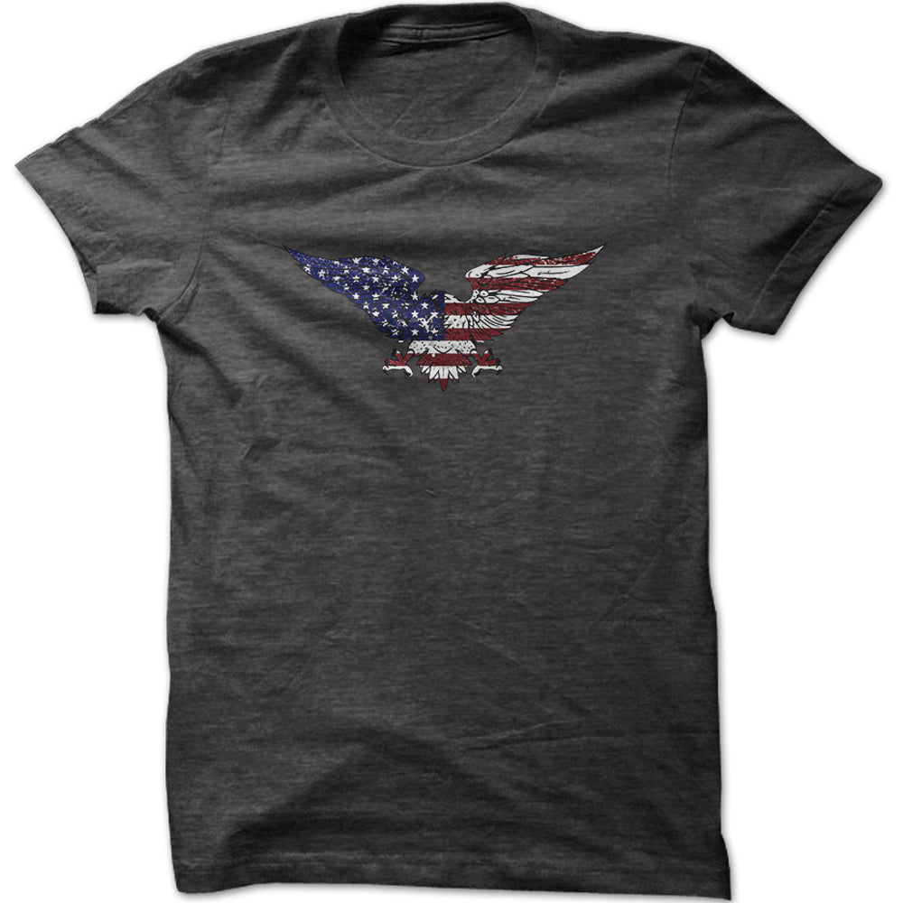 Men's American Flag Eagle Graphic T-Shirt
