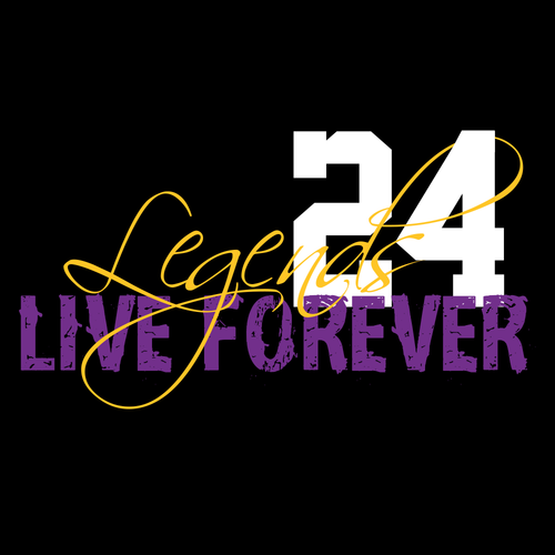 Legends Live Forever 24 Graphic T-Shirt