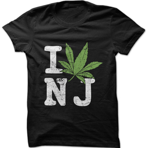 I Love NJ Marijuana Graphic T-Shirt