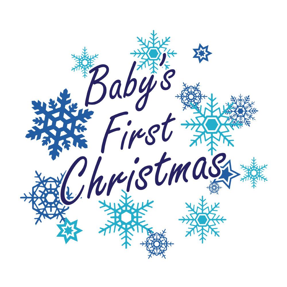 Baby's First Christmas Baby Onesie