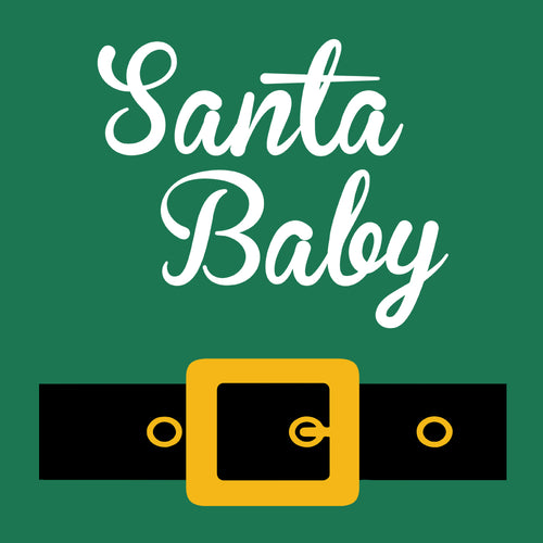 Santa Baby with Belt Baby Onesie