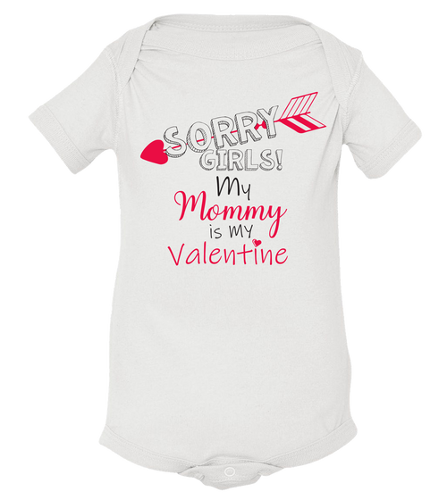 Mommy Is My Valentine Baby Onesie