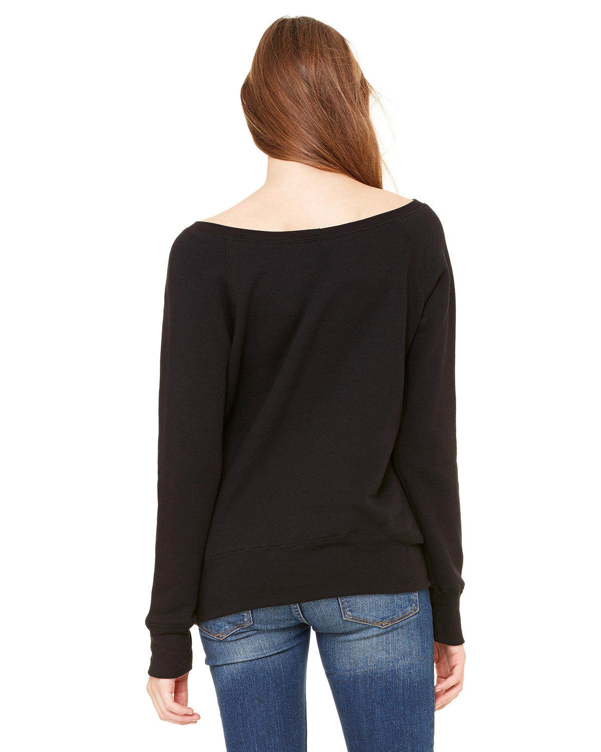 Nap Queen Off Shoulder Sweatshirt Black