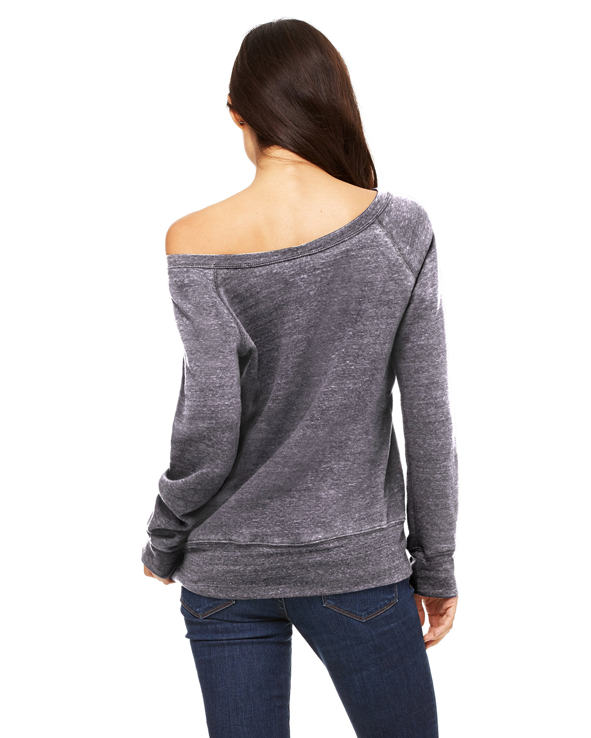 Nap Queen Off Shoulder Sweatshirt Acid Wash
