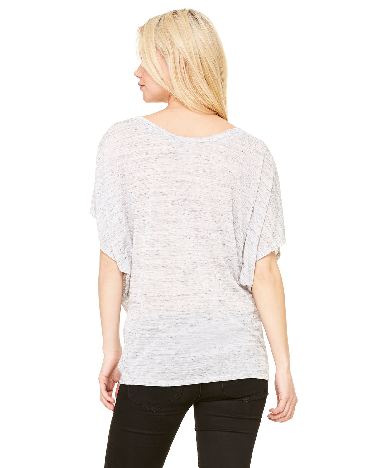 Nap Queen Draped Sleeve Dolman Shirt  Marble