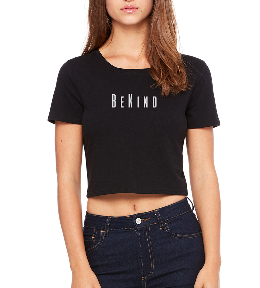 Be Kind Crop Tee Black