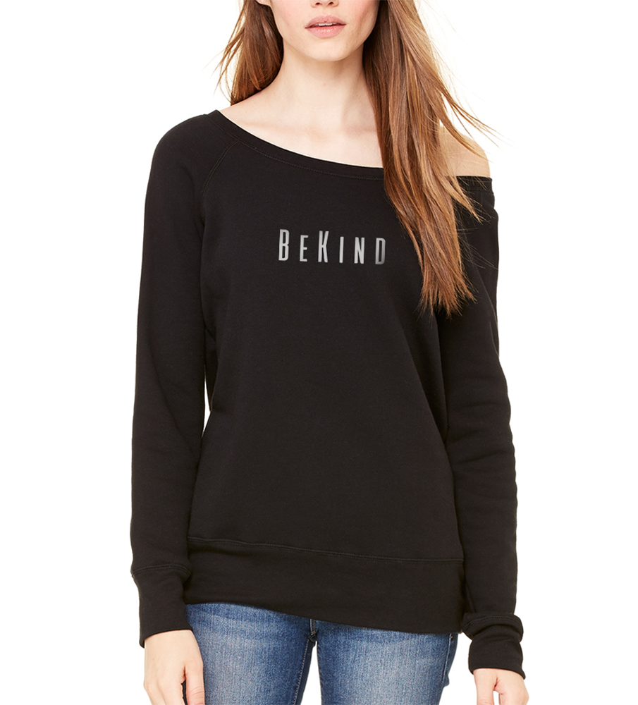 Be Kind Off Shoulder Sweatshirt