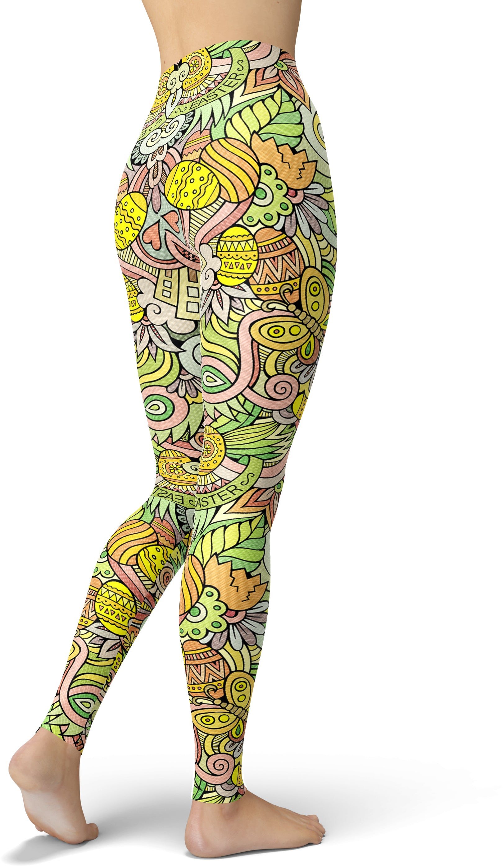 Easter Chicks Printed Leggings