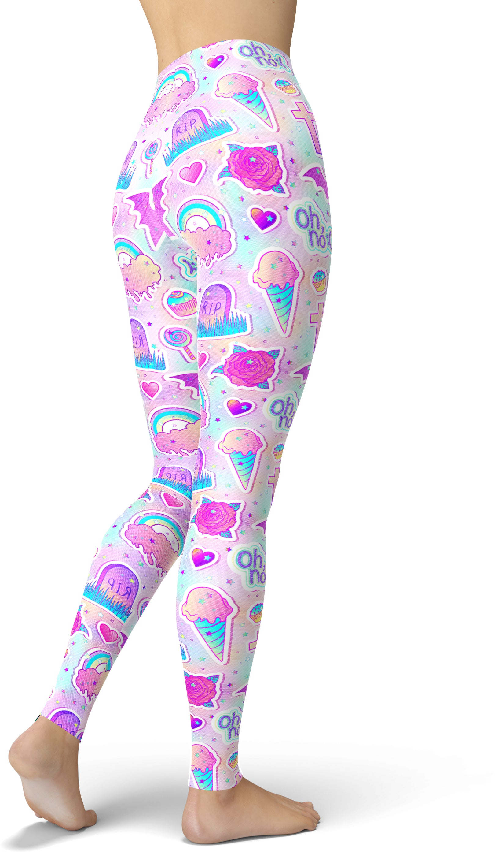 Starry Rainbow Print Leggings