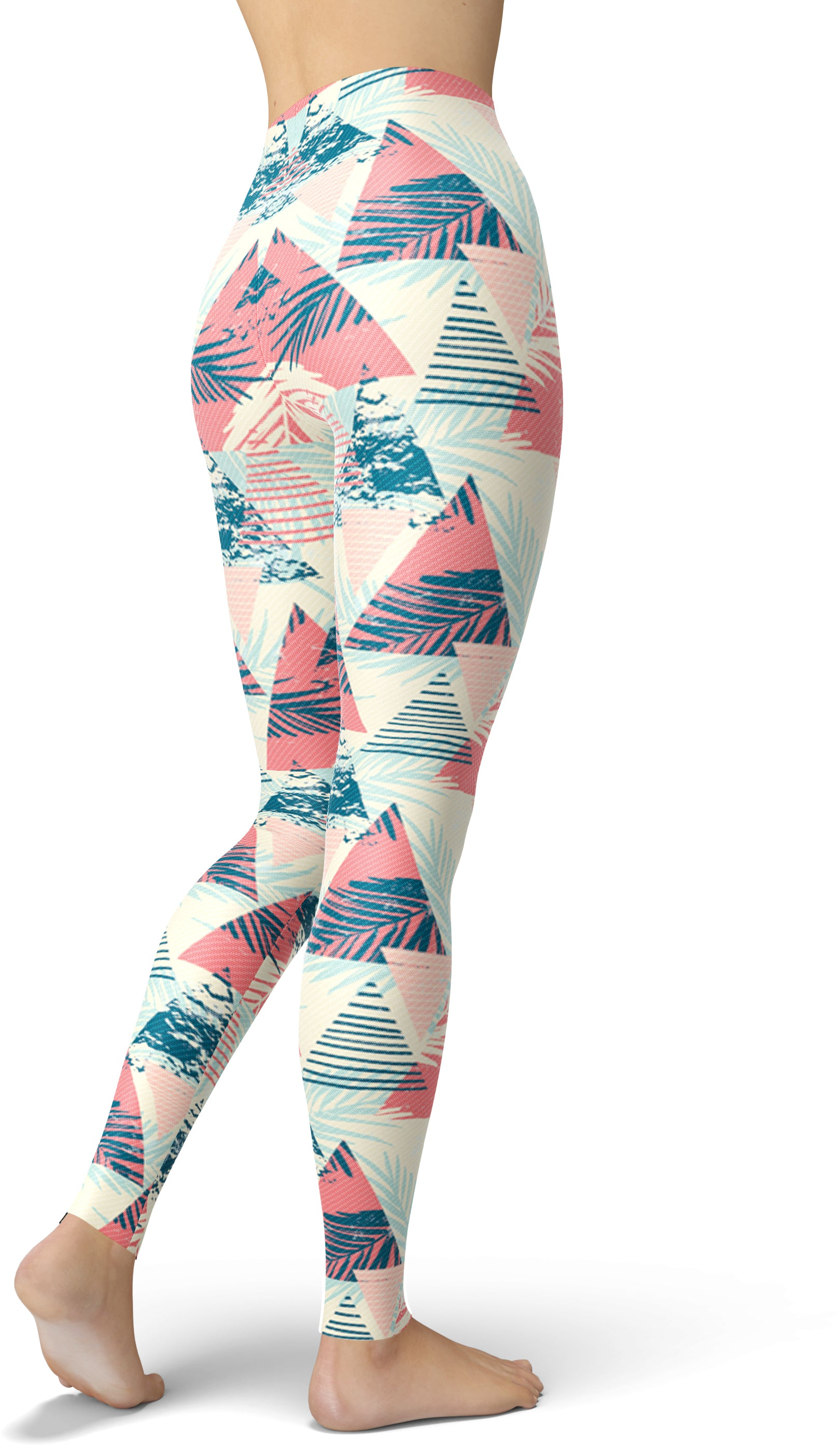 Stripey Tropical Print Leggings