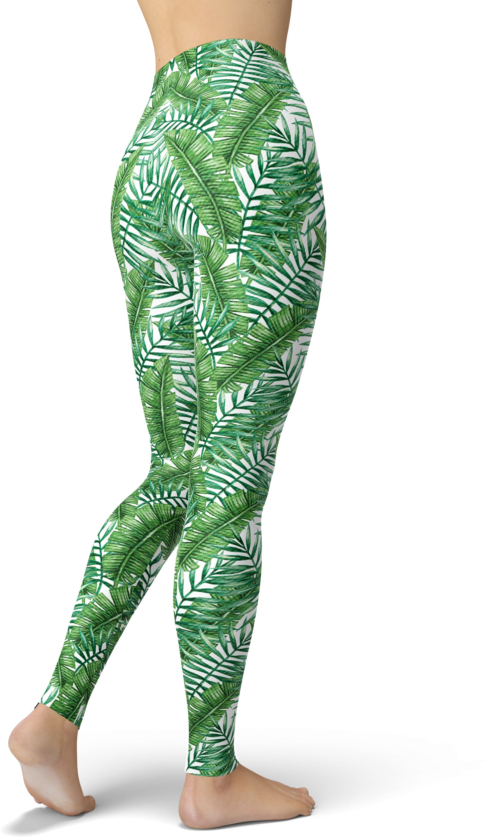 Green & White Jungle Leggings