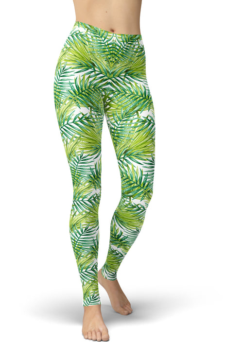 Gorgeous Green Print Leggings