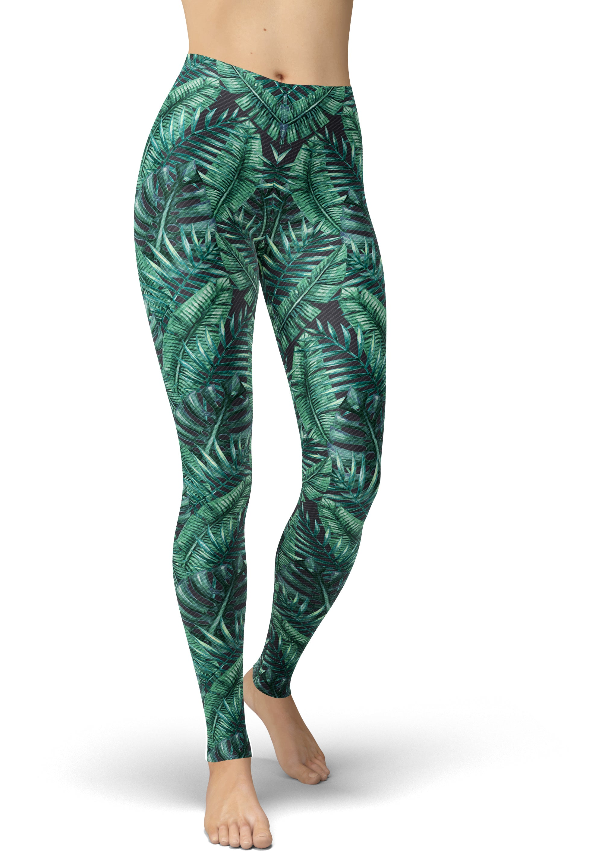 Green Goddess Jungle Leggings