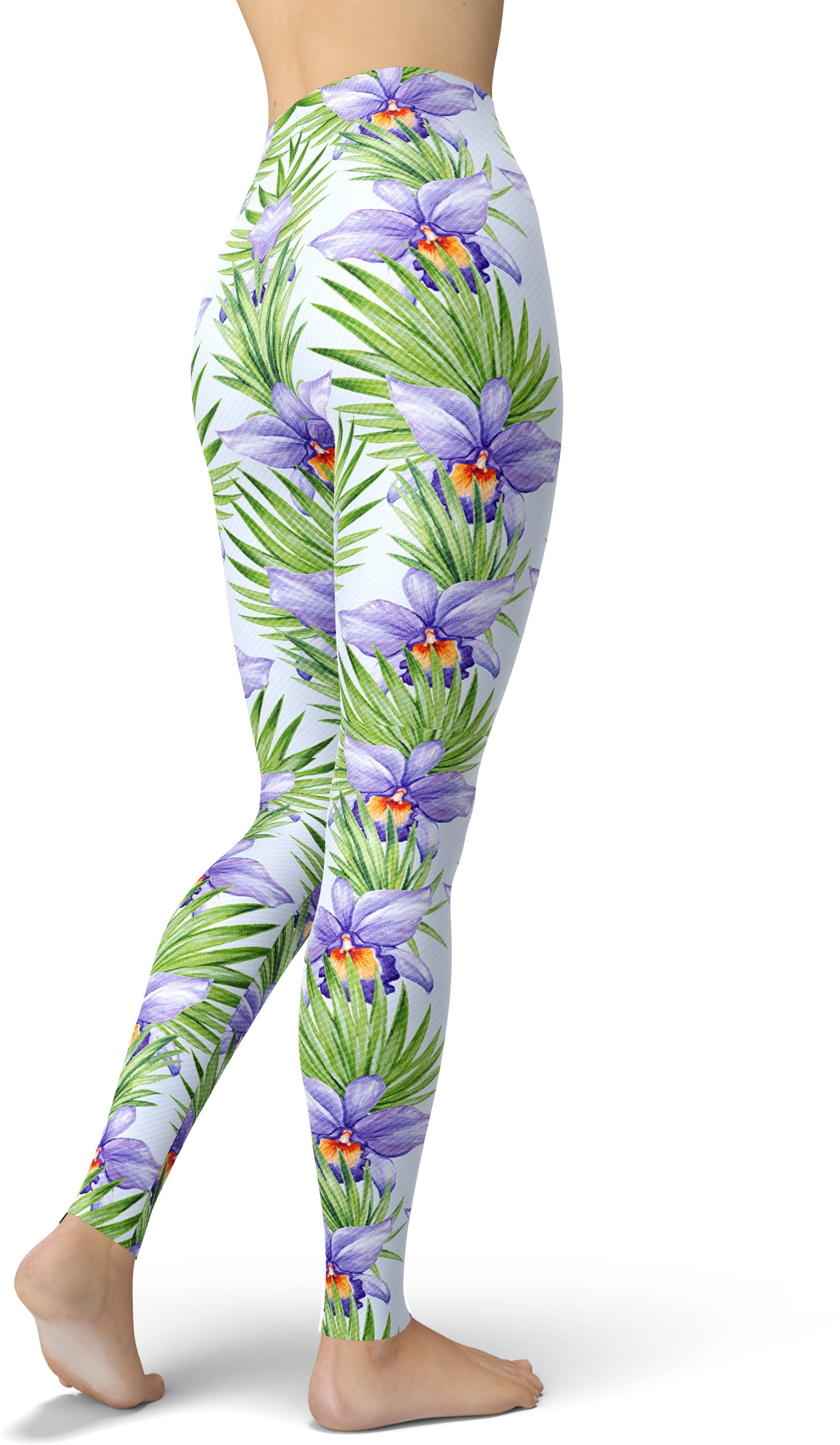 Lavender & Leaves Printed Leggings