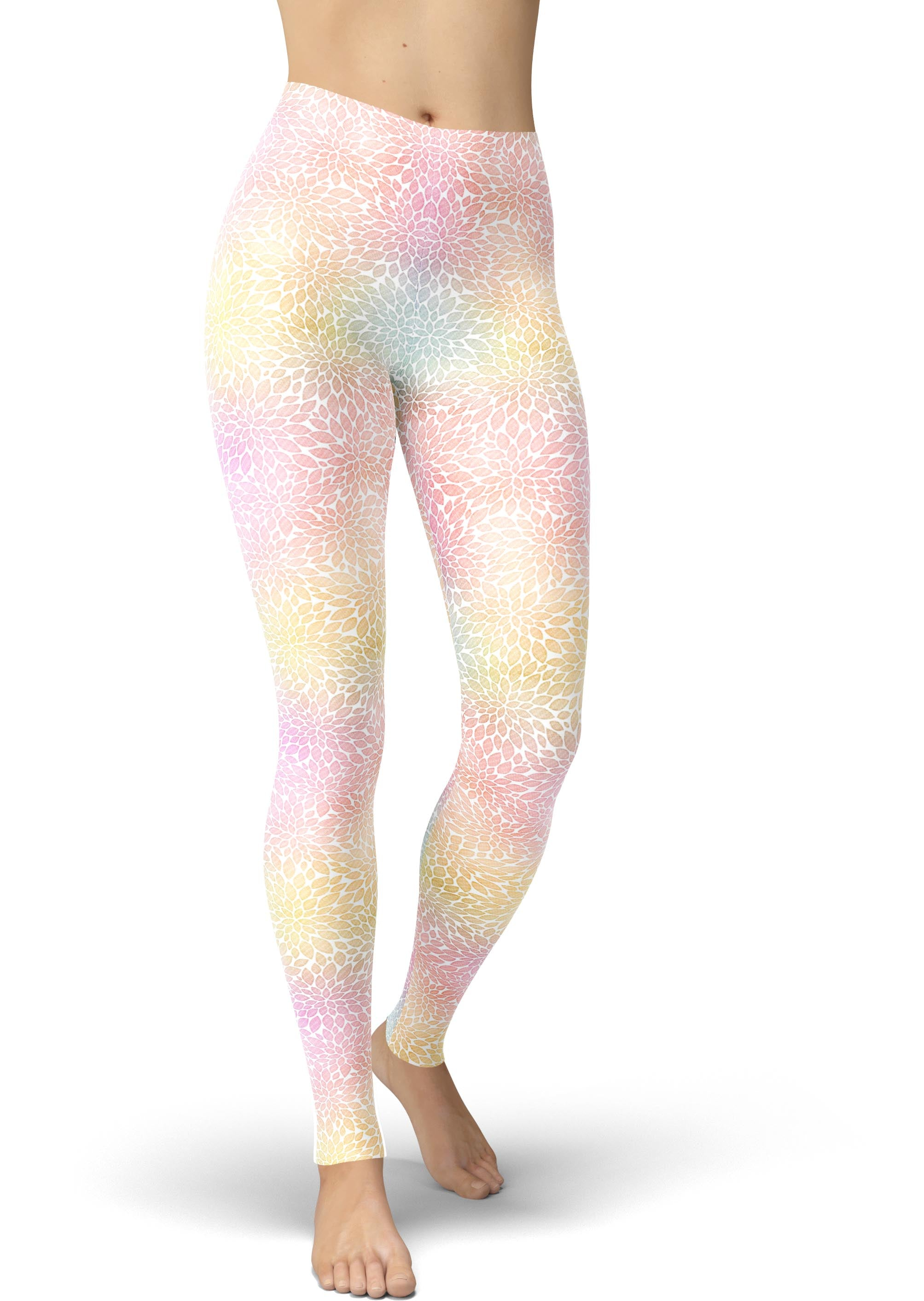 Geo Petal Print Leggings