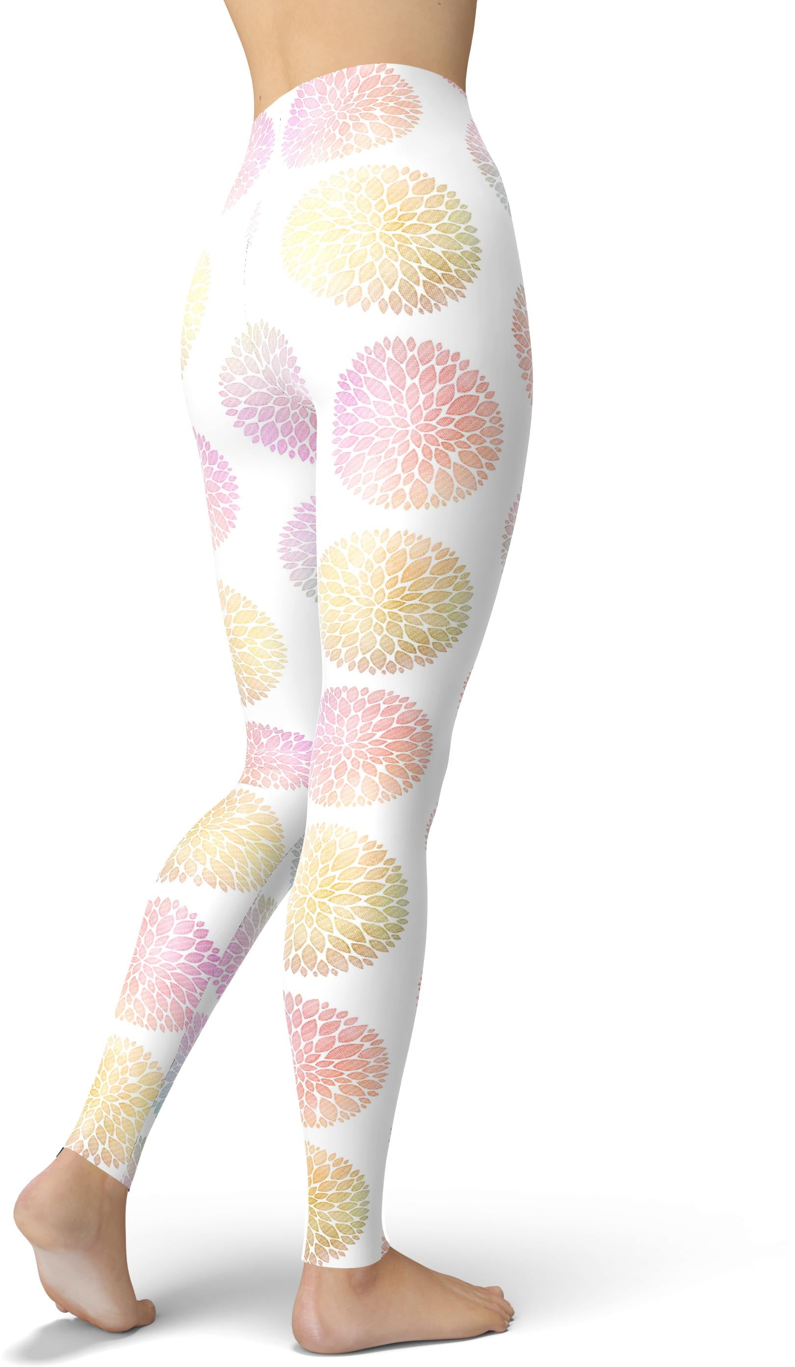 Petaled Mandala Print Leggings