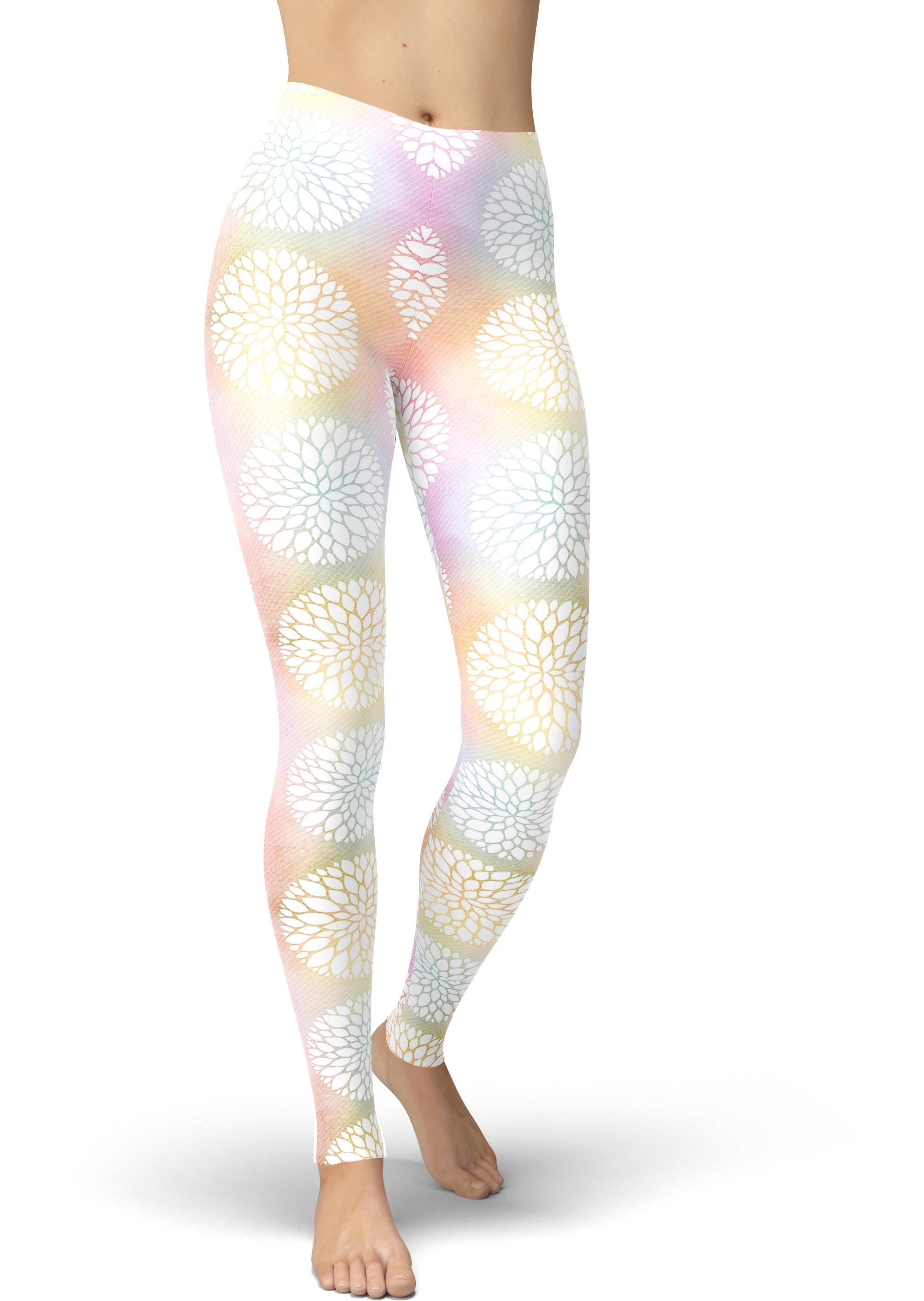 Ombre Geo Floral Leggings